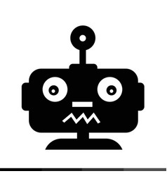 robot emotion icon design vector image