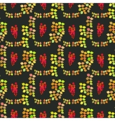 Seamless pattern autumn design vector image
