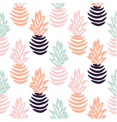 Seamless pattern with abstract pineapples vector