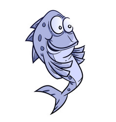 smile fish cartoon vector image