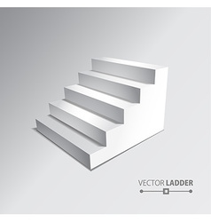 Stairs isolated on grey background Steps vector image