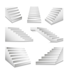 Stairs or staircases and podium stairway ladders vector