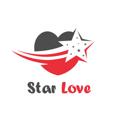 star love logo vector image