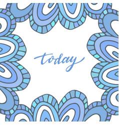 summer doodle background blue banner vector image