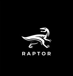 the dinosaur raptor vector image