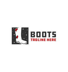 waterproof industrial boots logo vector image