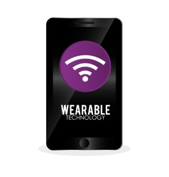 wearable technology design social media icon vector image