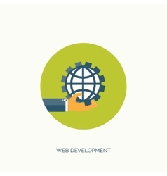Web development Flat vector