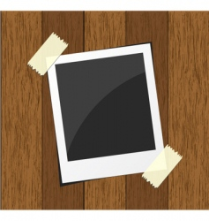 wood photo board vector image
