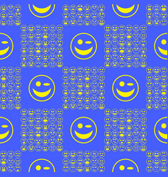 yellow smile seamless pattern vector image