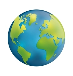 Planet icon Earth sphere design graphic vector image vector image