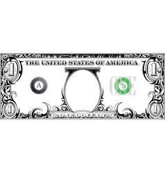 Tribal dollar bill vector image vector image