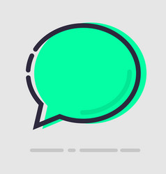 abstract flat green chat icon vector image vector image