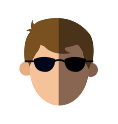 faceless head man with sunglasses people image vector image