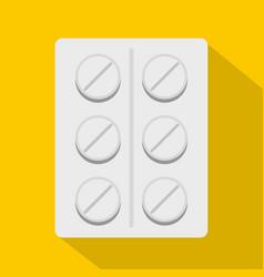 Pills icon flat style vector