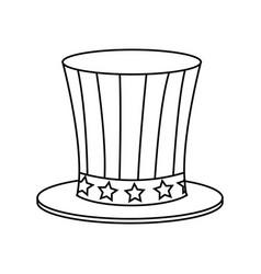 top hat american flag celebration anniversary vector image