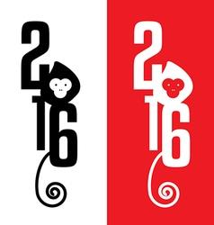 Year of monkey 2016 vector image