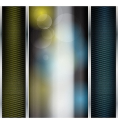 Abstract metallic background with glass banner vector image vector image
