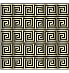 Greek Key Gold Design vector image vector image