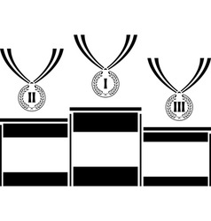 pedestal with medals vector image vector image