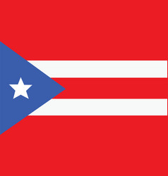 puerto rico flag for independence day and vector image vector image
