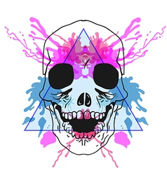 Sketch Hipster Bones of the Head in triangle frame vector image