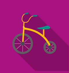 tricycle icon in flat style isolated on white vector image vector image