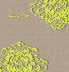 vintage invitation floral card EPS 10 vector image vector image