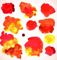 watercolor red stains vector image