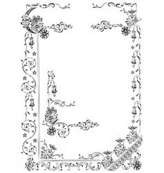 antique frame engraving vector image vector image