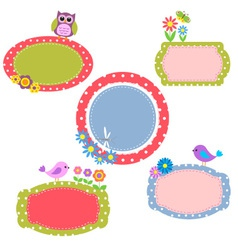 Cute frames vector image vector image