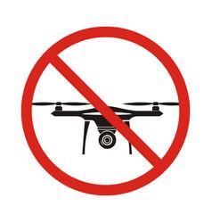 no fly drones sign no fly zone drone sign vector image vector image