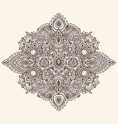 pattern of henna floral elements vector image