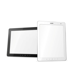Two tablet computers vector image vector image