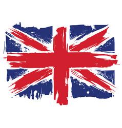 uk grunge flag vector image
