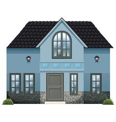 A blue single detached house vector image