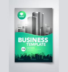 a4 flyer pamphlet brochure cover design vector image