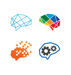 abstract brain logo template vector image