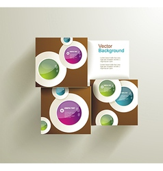 Abstract Circles for infographics vector image
