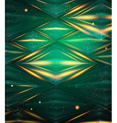 Abstract hexagon pattern Green shiny background vector