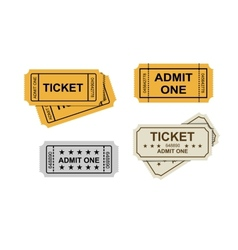 Admit one tickets vector