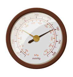 barometer iconcartoon icon isolated vector image