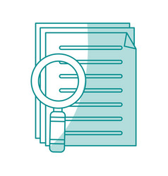Blue shading silhouette of search files with tool vector