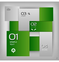 business squares template green with text vector image
