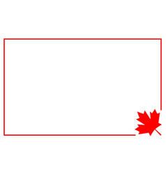 Canadian flag symbolism border vector