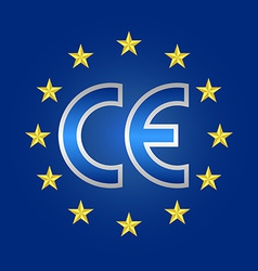 ce mark quality conformity marking sign vector image