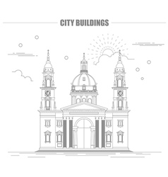 City buildings graphic template St Istvan vector image