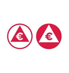 Cost price euro decrease increase index icon vector