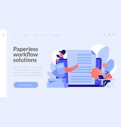 digital transformation concept landing page vector image