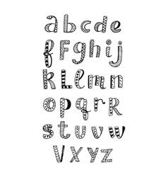 Ethnic latin alphabet vector image